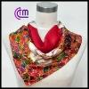 2013 newest custom printed square silk scarf