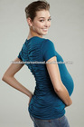 Ruched Back tee from Maternal America in Teal or Black