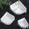 Square soap plate ceramic bathroom accessories bathroom sets