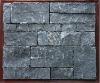 Natural black slate stone veneer