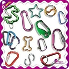 Colorful aluminum carabiner used for keychain/promotional