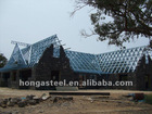 prefabricated light steel truss frame house with roof