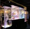 Aquarium Show Cabinet in colorful light at the size of 50*50*130cm