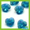 blue heart crystal beads in bulk CP149