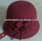 2012 fashion women winter wool felt cloche bucket hat
