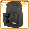 100% cotton washed canvas backpack wholesale