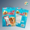 Laminated self stand zipper bag for dog food packing