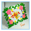 Beautiful Plastic square Photo Frames with funny green tree leaves
