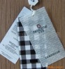 PVC hang tag with paper hang tag for apparel
