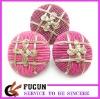 fancy fabric button