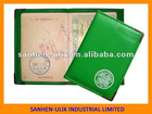 Passport holder with metal horn, ECO-friendly material