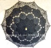 100% cotton lace handmade embroidery bridal parasol