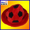 ST-H1201#football fancy fedora hat/christmas festival caps