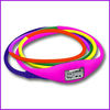fashion long silicone jelly bracelet ion watches