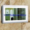 White Acrylic Frame Dressing Mirror with light
