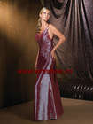 New Style Spaghetti Strap Bridesmaid Dress Purple