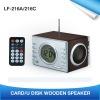 Card / U Disk Wooden Speaker