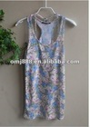 Garment Fashion Ladies Print Vest,100%Cotton Vest,tank top