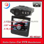 Excellent Night Vision 6 LED 2.5 inch LCD Screen 120 degree 720p with HDMI H.264 HD Mini DVR car video recorder