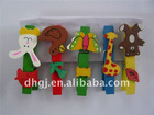 animal mini children wooden clothes peg