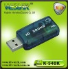USB sound card with Mic and LED light