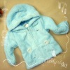 Sky Blue Hoodie adorable coral cashmere series of children's clothing