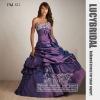 Stunning Ball Gown Beaded Pick-ups Taffeta Prom Dress PM521
