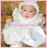 Hot sales 2012 Cute girl including hat and shoes lace around-6319,christening gown