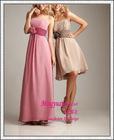 Pink chiffon with sash cheap olive green bridesmaid dress