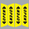OPEN Warning Car Sticker, Reflective Car Sticker