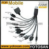 Universal 10 in 1 USB Charging Cable for Cellphone Mobile Phone Iphone Ipod Lg HTC