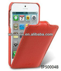 Orange Ultra Slim Jacka Type Leather Case Protection Cover for Apple iPhone 5 5G