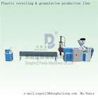 Plastic recycling&granulation production machine line