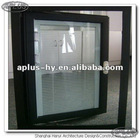 Aluminum window with electric blind