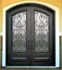 wrought iron eyebrow top doors