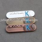 metal nameplate for garment, luggage, bag