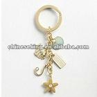fashion charms keyring, custom charm key chain jewelry, fashion gold jewelry