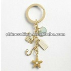 fashion charms keyring, custom charm key chain jewelry, fashion gold jewelry