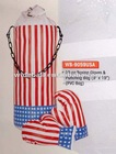Popular USA National flag printed PVC/PU boxing gloves & Punching bag