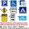 Square traffic safety signs