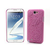 Hard Back Case Cover Three-dimensional Carving Rose for Samsung N7100 Galaxy Note 2 Fashion coloful