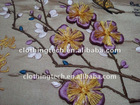 Artificial fabric flower trim