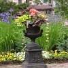 cast iron flower urns