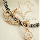 New Arrival Cute Pearl Hollow-out Crown Bow and Star style Hairpin