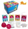 Different Kinds of Tattoo Paper and Puzzle Dinosaur Candies in Plastic Surprise Dinosaur Egg