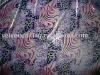 silk velvet burn out & print fabric