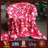 100% polyster fabric cheap flannel fleece blanket