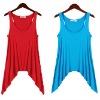 womens plain cotton vest tops