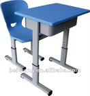 children plastic single school desk and chair (BW-102+202)