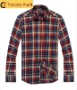 2012 Fashion check cotton shirts for men